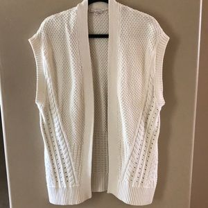 GapMaternity cream knit cardigan sweater vest M/L